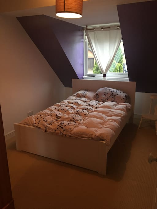 Double bed in a family home.