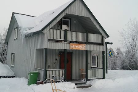 Lapland Snow Cabin - whole house with fireplace