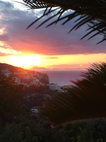 Il panorama: golfo di Napoli, Ischia, Procida