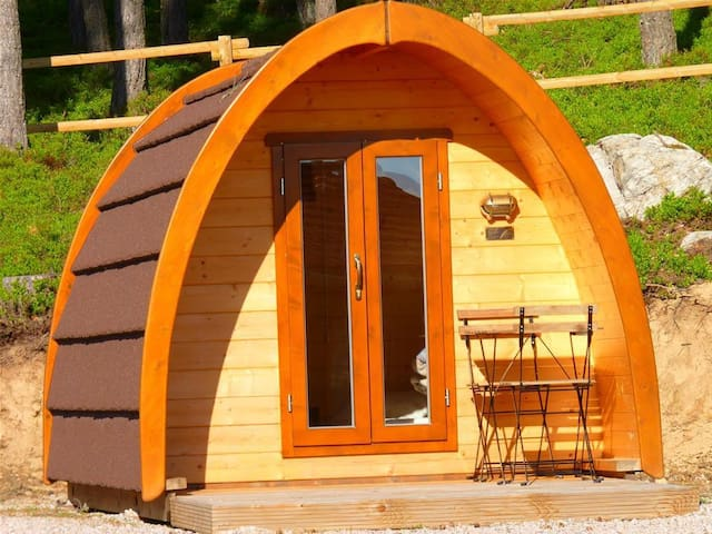 Wooden capsule 6m2 for 2 people.