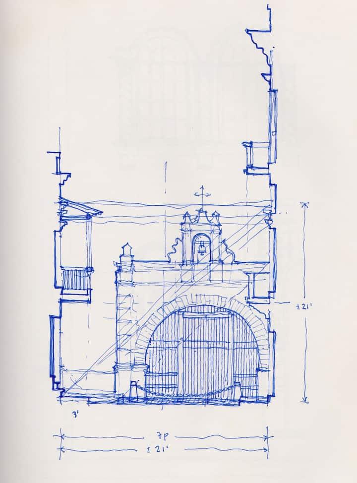 Cristo Chapel OSJ, sketch