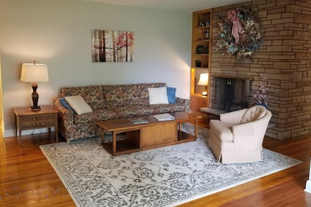 Serene Mid-Century Guest Suite, Quiet Neighborhood