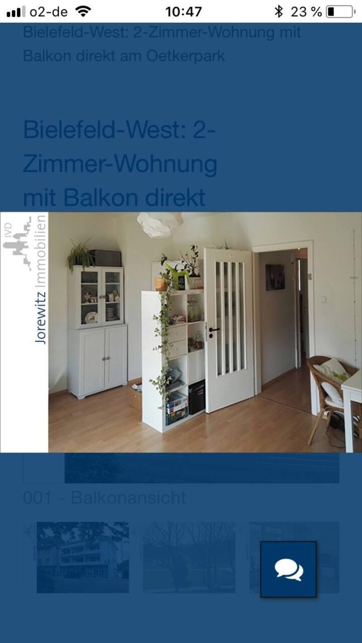 Schöne 2ZKB Wohnung mit Blick in den Bürgerpark