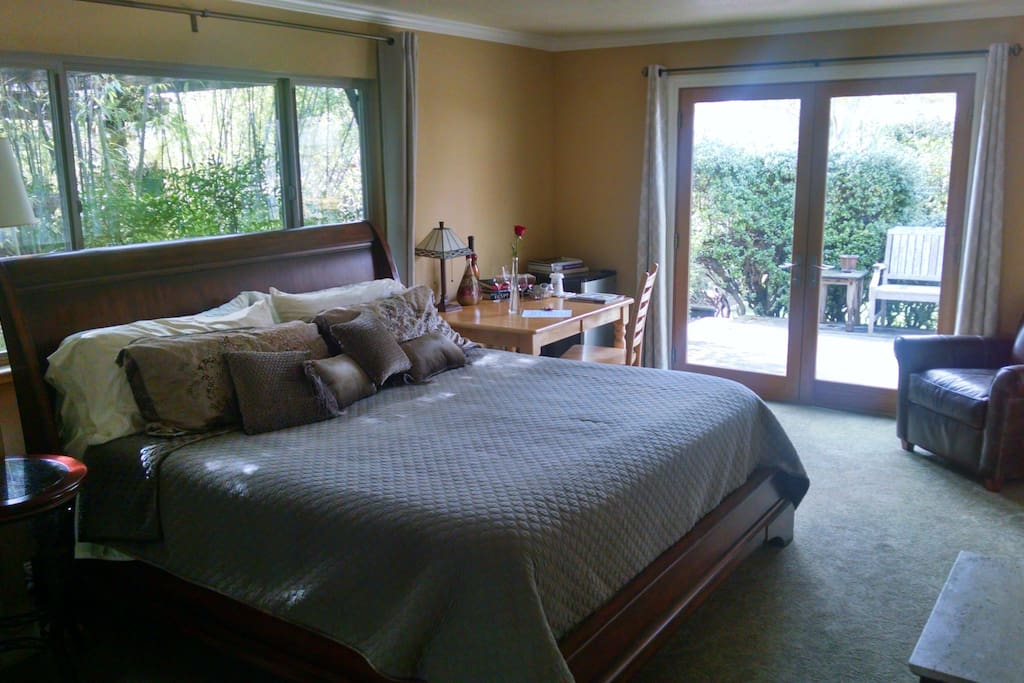 Spacious 320 sq ft suite with King bed
