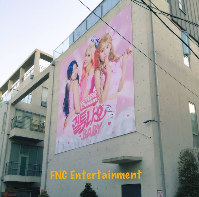 Because fnc is next to my house, I could update the poster of idols at anytime they change it.