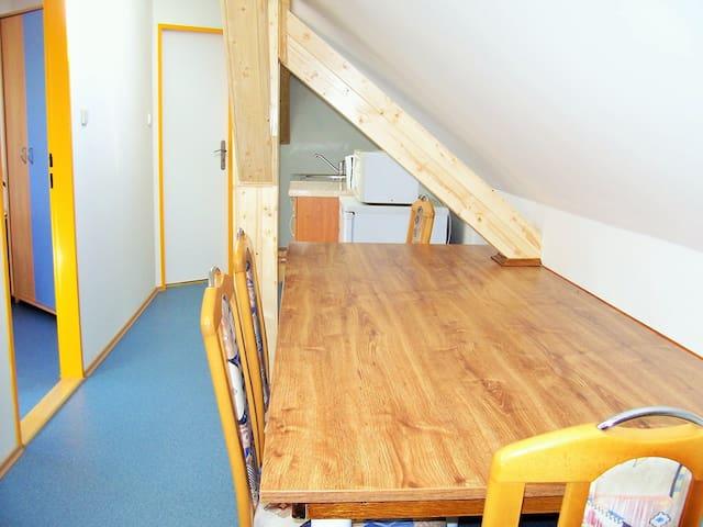 Apartmán na dobrém místě vhodný pro rodiny s dětmi - Holasice - Loft