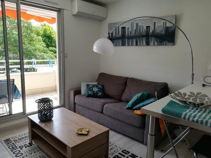 Studio cabine 27m2. parking clim plage du Couchant