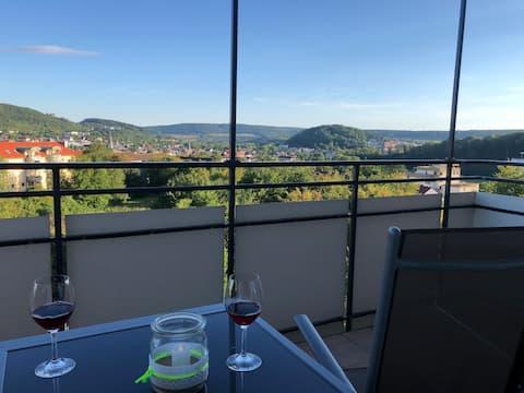 Ferienwohnung Apartment AusZeit Penthouse Ausblick