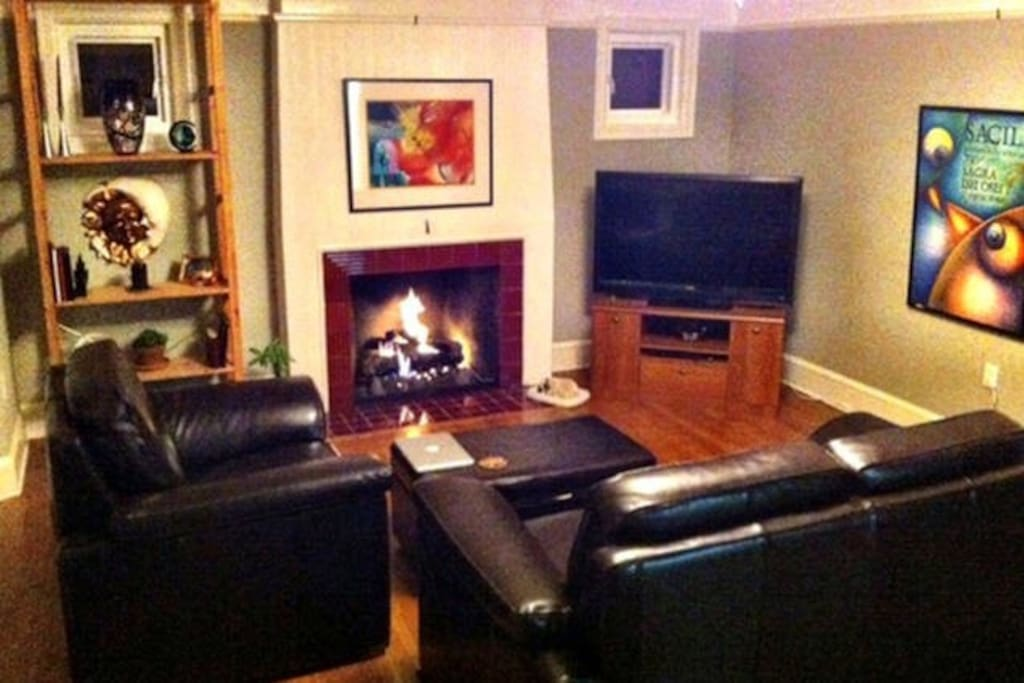 I have cable TV and Wi-fi which can be enjoyed in front of the cozy gas fireplace.