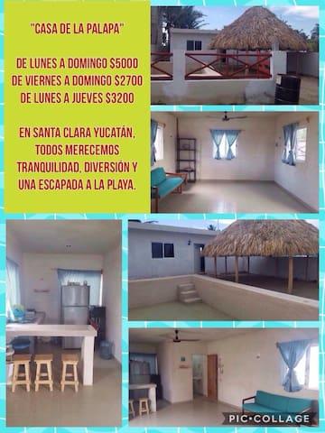 Renta de Casa en la playa, Santa Clara, Yucatán!