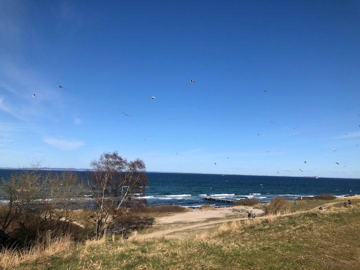 Lejlighed med udsigt til havet