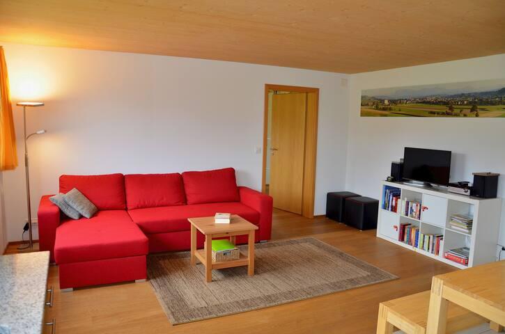 Wohnzimmer mit Bettsofa (140cm x 200cm)