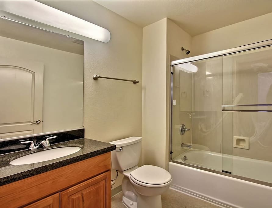The bathroom or water closet.
