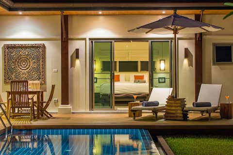 Luxury boutique Pool Villa, tastefully decorated