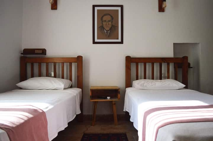 Two Single Beds In The Center of Cunda Island