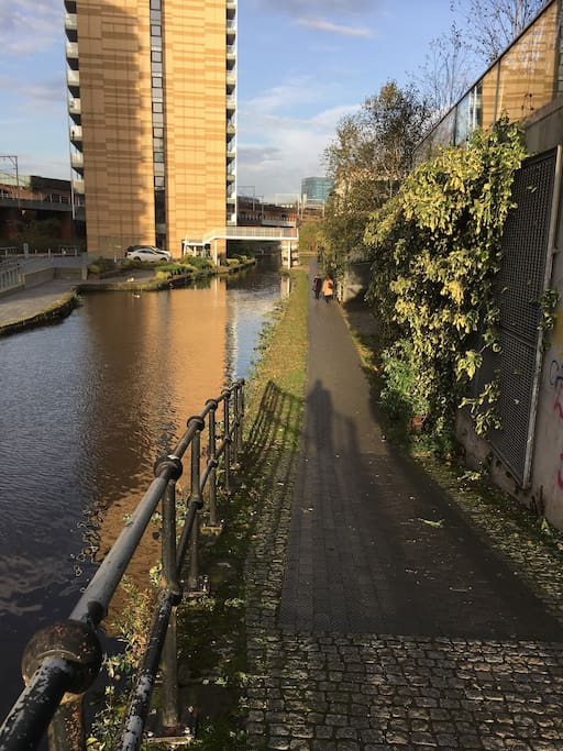 The short walk to city centre down the canal which lasts approximately 10 minutes