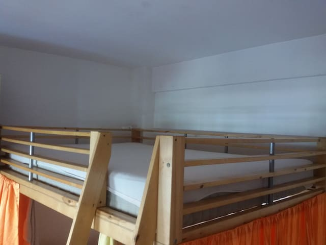 big bunk in shared room