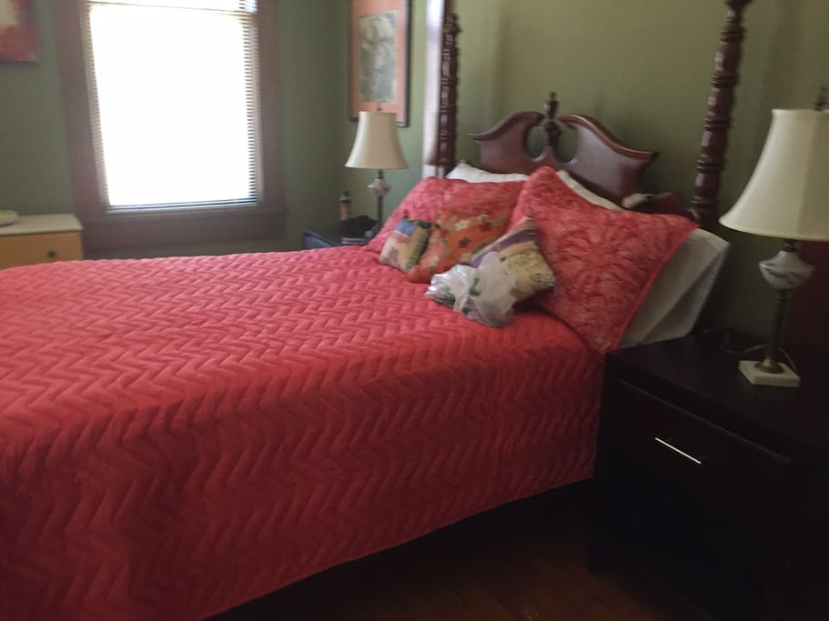 Very comfortable full size bed in private bedroom