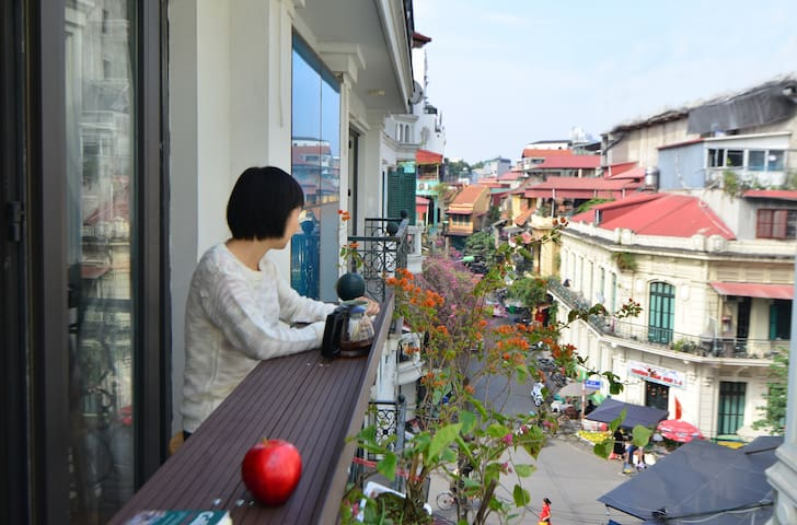 Mia's Home in Old Quarter/Balcony/City View/Lift
