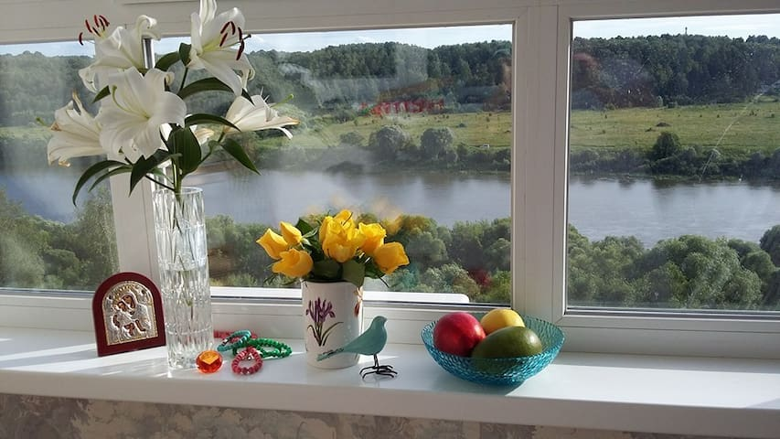 New apartment with beautiful Oka river view - Kaluga - Daire
