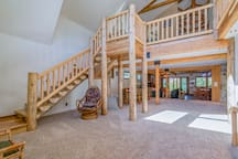 Split log staircase