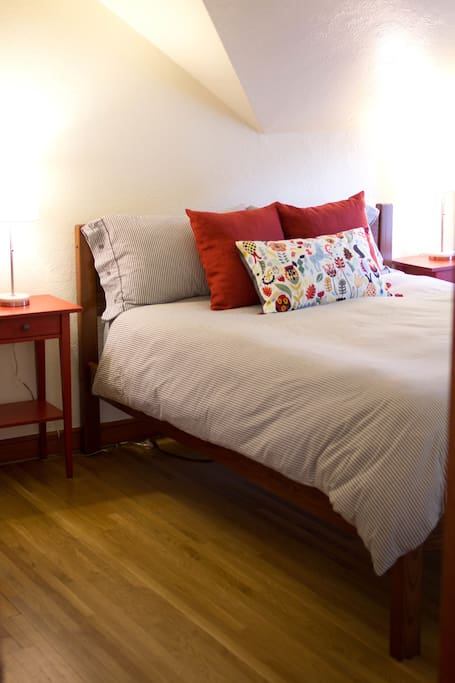The 2nd floor is yours! Enjoy a cozy stay in a private master suite with living room and full bath.