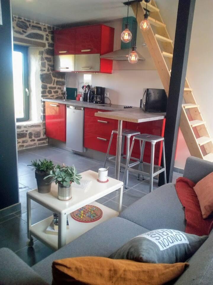 Petit studio cosy au bord du mer