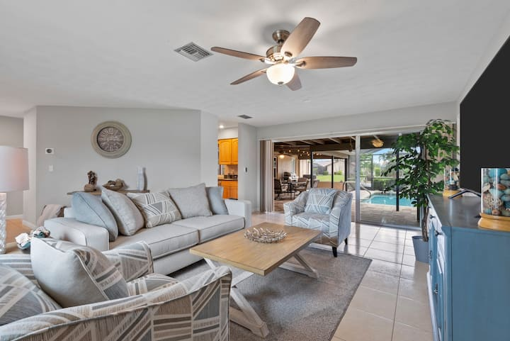 NEW! 3 bdr house with heated pool and big lanai