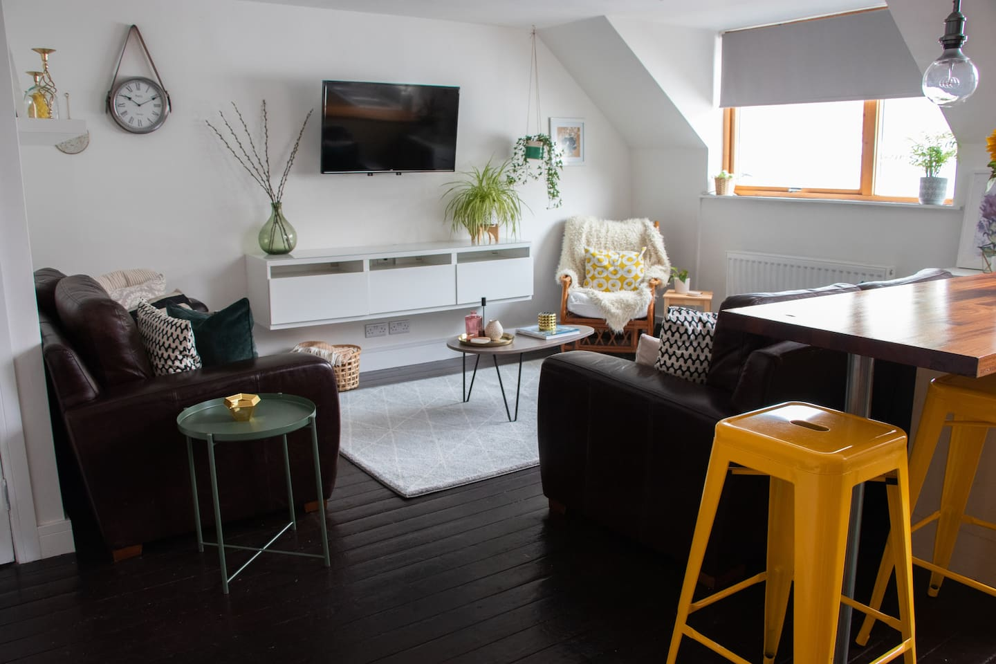 Our eclectic style comfortable   living room