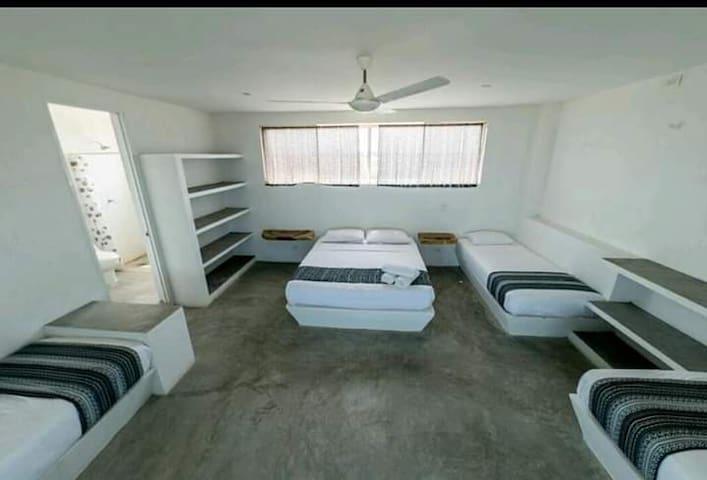 La gran habitacion para 5 personas