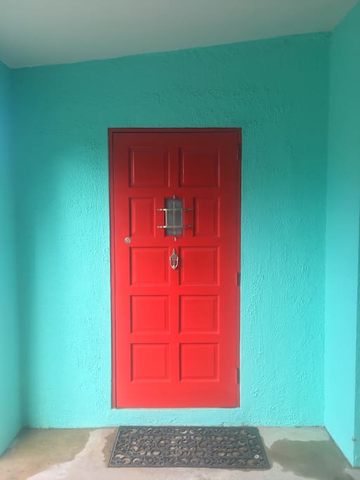 Red Door Entrance to the apartment