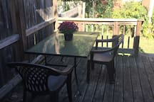 Nice and quiet back porch.