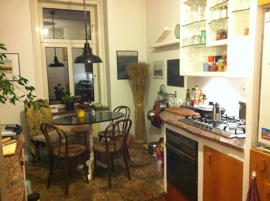 Our guests are very welcome to use the Kitchen! We have all one could need, including washing machine!