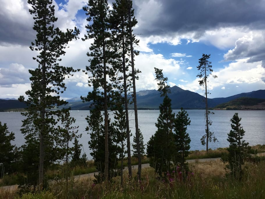 Lake Dillon-from walking/bike path in front of our deck