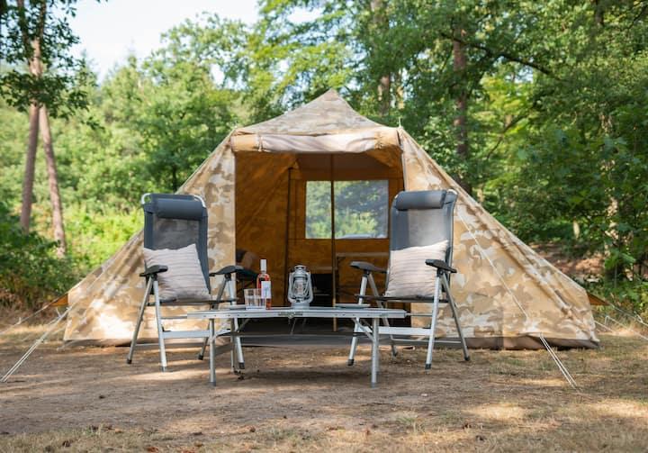Hoteltent, kamperen zonder opzetten, Meppen