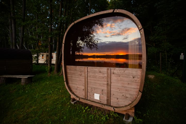 Barrel House with no shower