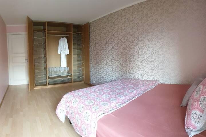 Master bedroom with plenty of room for your belongings.