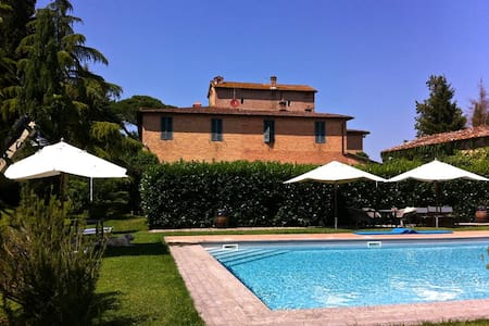 Beautiful country residence near Siena with pool - Сиена