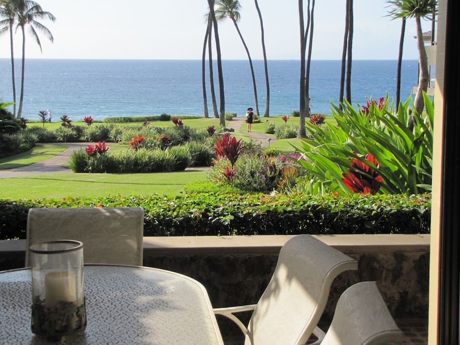 View from Lanai and Outdoor Dining area