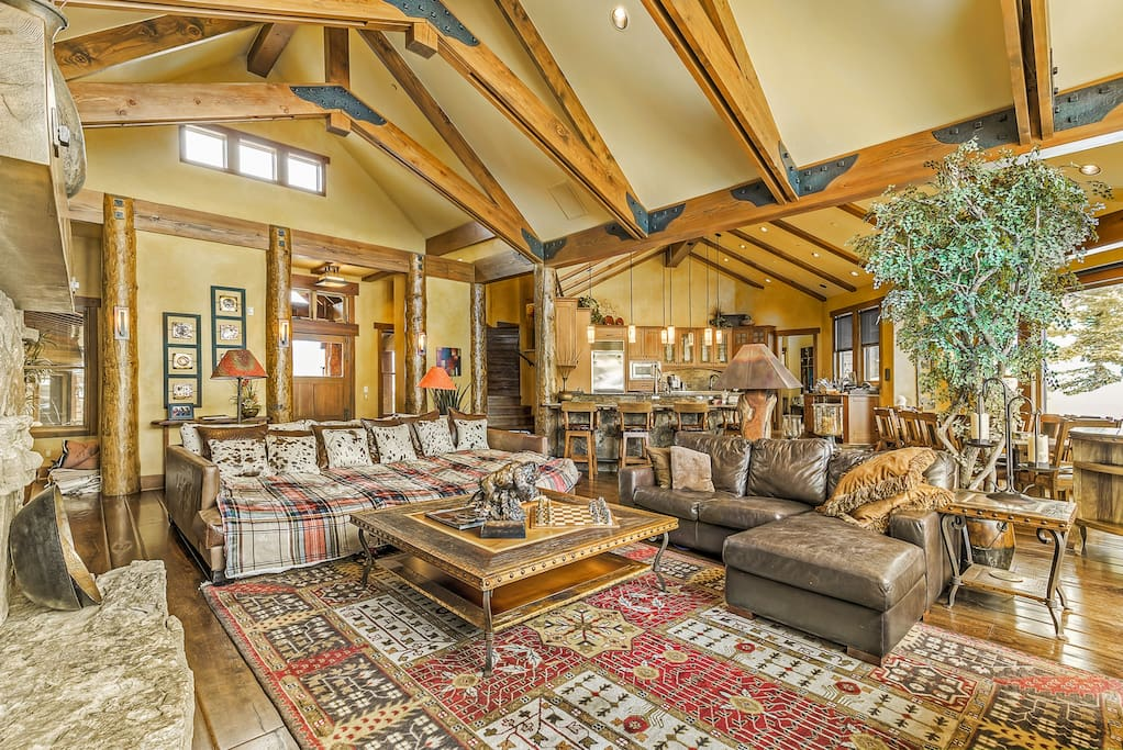 Beautiful Great Room with Massive Picture Windows. Views All of Breckenridge Resort Peak 8.