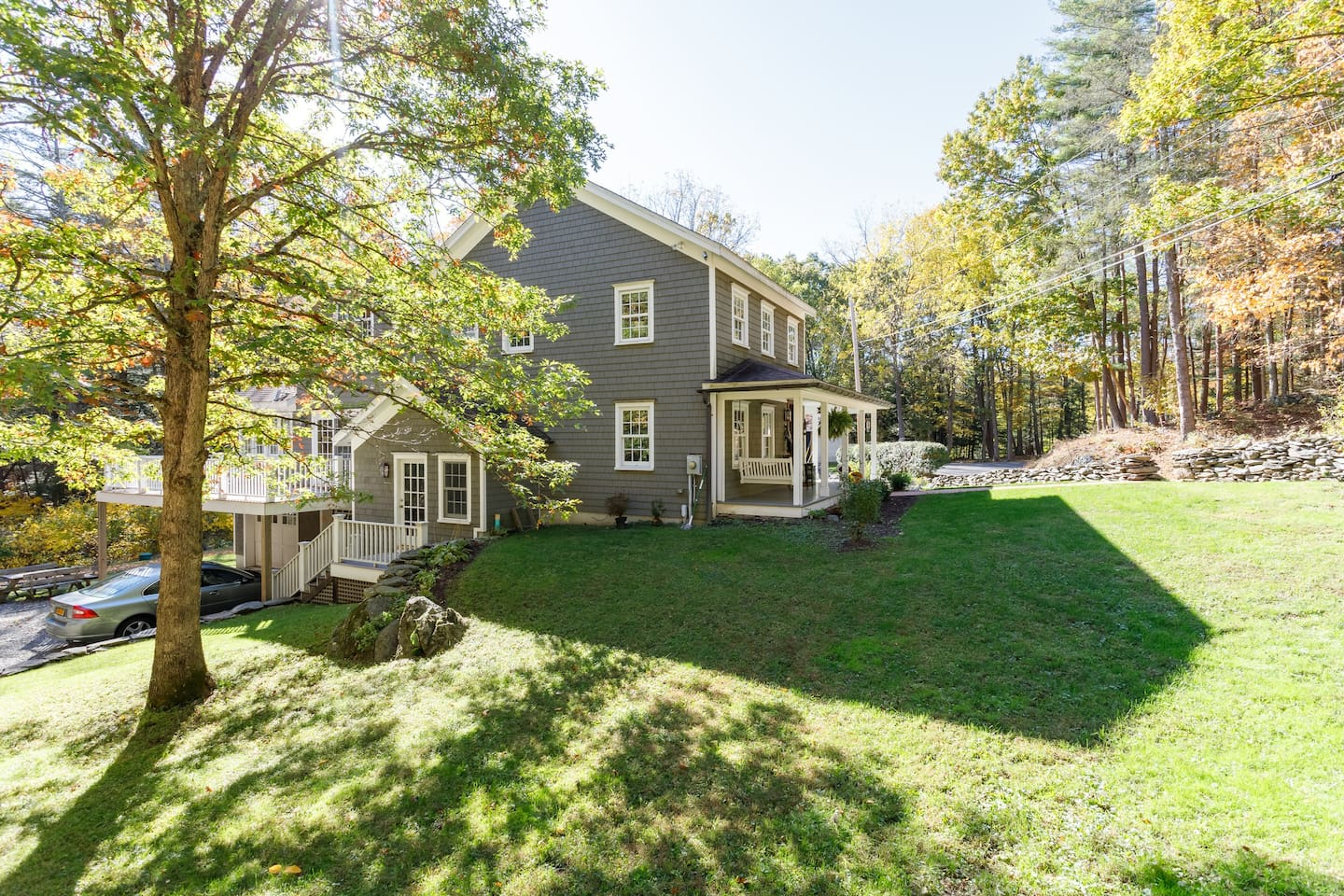 Walnut Grove....wooded, private, walking distance to the Hudson River and views of the Catskills