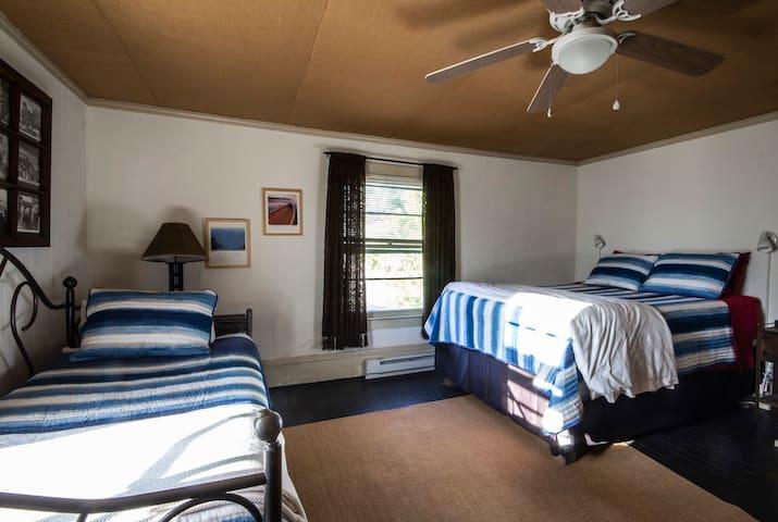 Bedroom 3. Second floor. One queen bed. One trundle bed (two twins). Bathroom next door.