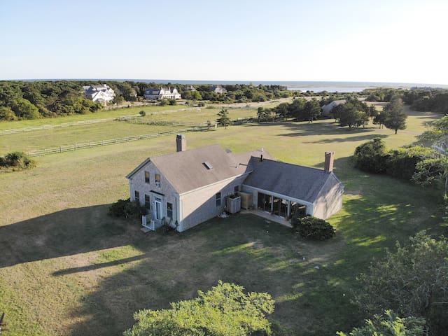 Katama - Pet Friendly Farmhouse with Private Beach