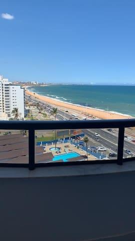 Bahia Suítes Excelente Flat  camareira vista mar