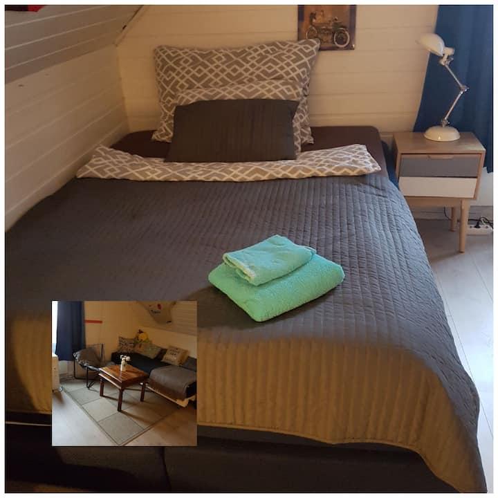 Stor leilighet med 2 soverom