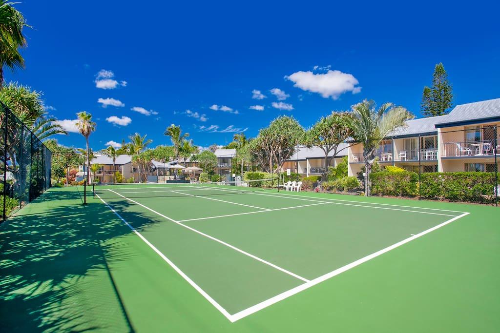 Full size tennis court