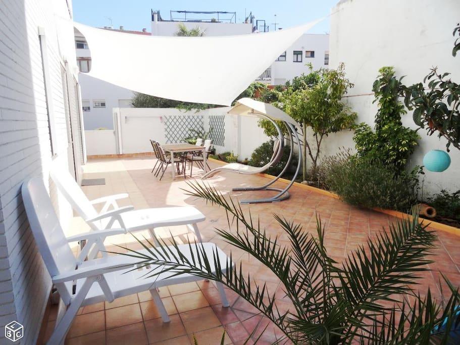 Terrasse privée de 92 m²