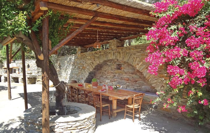 Beautiful home in Stenies Andros with WiFi and 4 Bedrooms