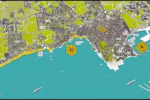 Ryans Ibiza - Location in Playa den Bossa, with ferries to Formentera and Ibiza Town. Close to Ushuaia and Hi.