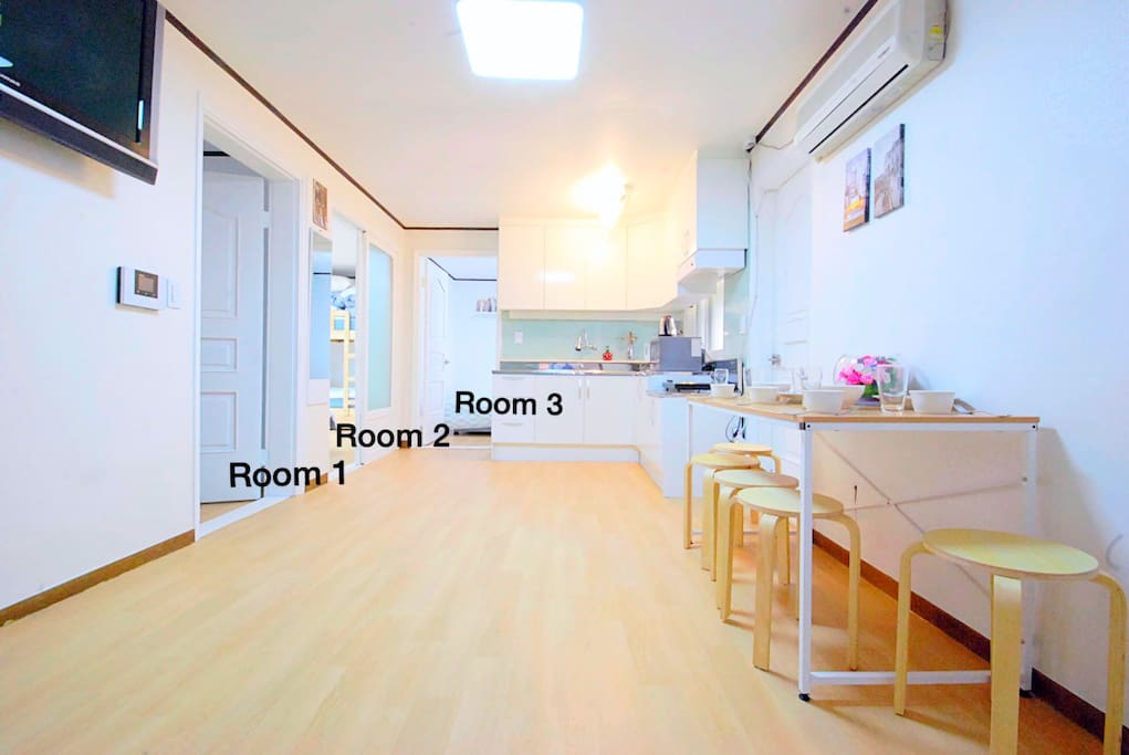 All rooms are yours!!!! No one shares with you We rent out whole house for you ^^ Don't get confused with it♥♥